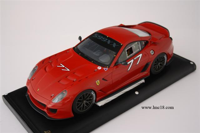 "Photos de la Ferrari 599XX de MR Models #77 ""Massa"""