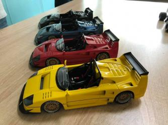 Top Marques : Preview Fin 2019 : Photos d'un quatuor de Ferrari F40 Barchetta Beurlys au 1/18
