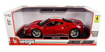 "Bburago Race & Play : Photos de la Ferrari 488 GTB ""The Schumacher"" 70th Anniversary 1/18"