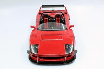 Top Marques : Preview Sept. 2019 : TOP68B : Photos de la future Ferrari F40 Barchetta Beurlys en rouge au 1/18