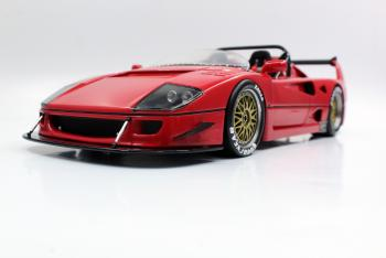 Top Marques : Preview Sept. 2019 : Autres Photos de la future Ferrari F40 Barchetta Beurlys en rouge au 1/18