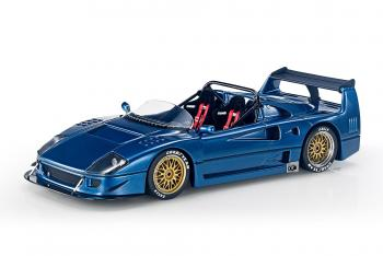 Top Marques : Preview Fin 2019 : Photos de la future Ferrari F40 Barchetta Beurlys en bleu au 1/18