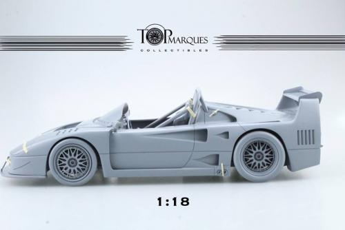 Top Marques : Preview 2019 : La Ferrari F40 Barchetta Beurlys annoncée au 1/18 !