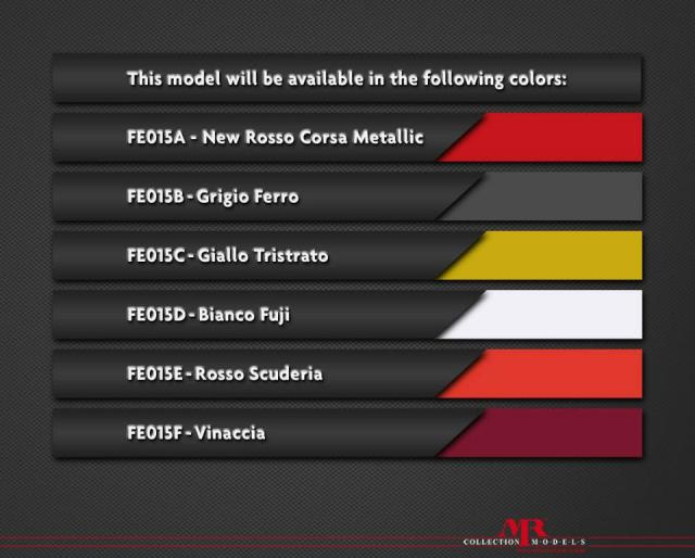 MR Models : Preview 2015 : Liste de couleurs de la Ferrari 488 GTB 1/18