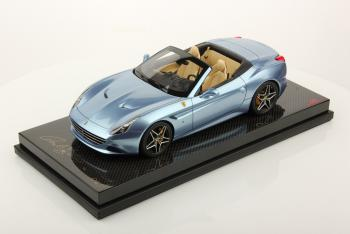 MR Models : Nouveaut� Janv. 2015 : Ferrari California T Bleu Azzurro California socle Carbone FE013B N�1/25 1/18